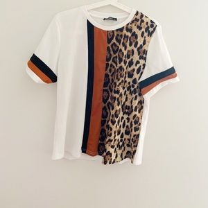 Shein Leopard print Contrast top